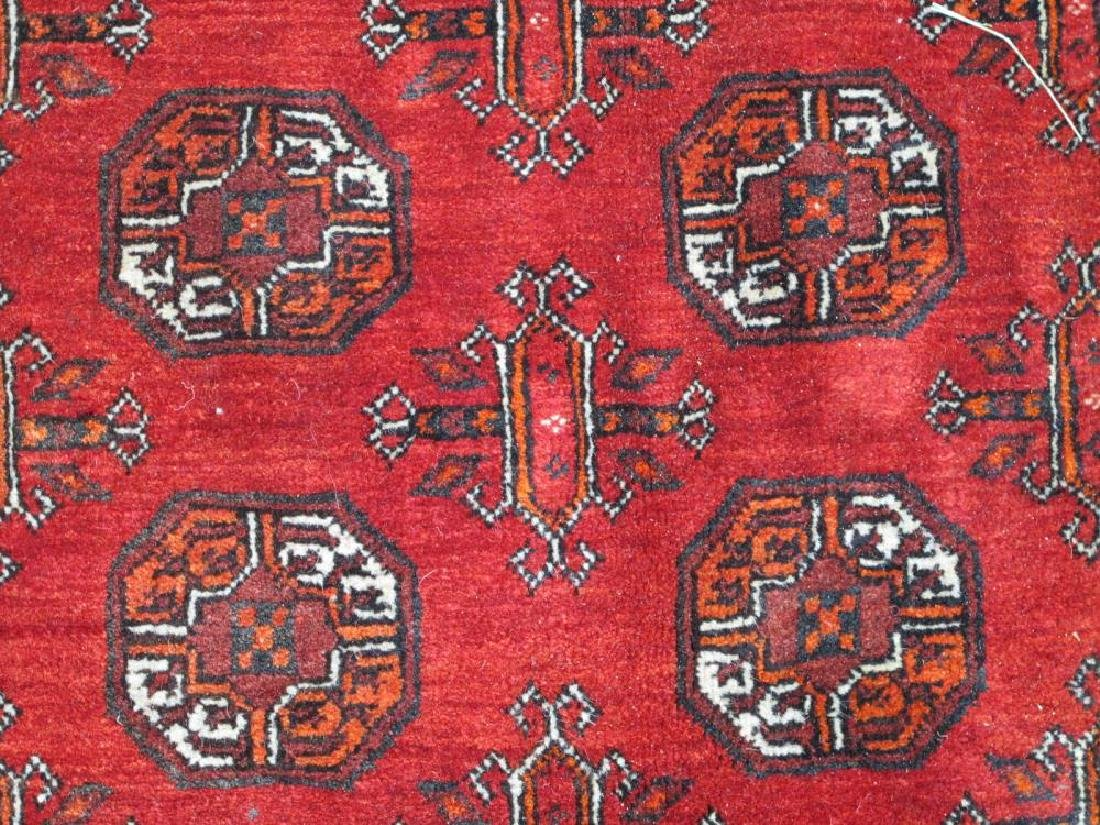 Hand Knotted Semi Antique Wool on Wool Persian Turkmen - 3