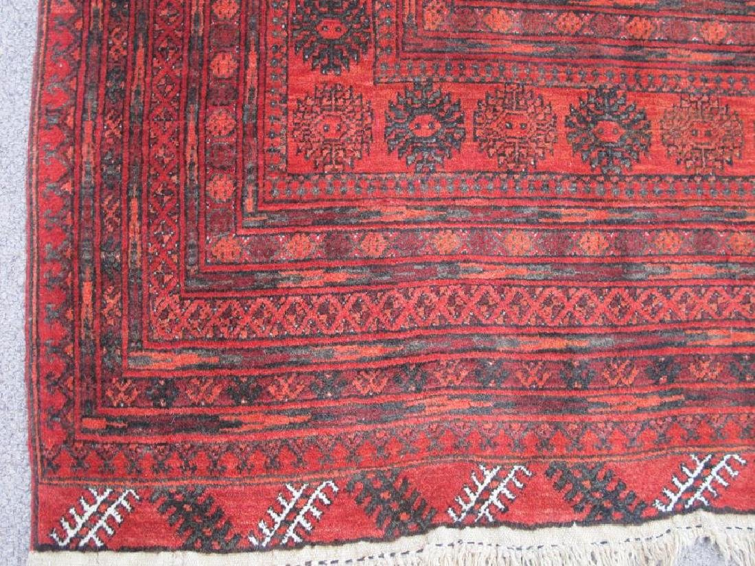 Hand Knotted Semi Antique Wool on Wool Persian Turkmen - 4