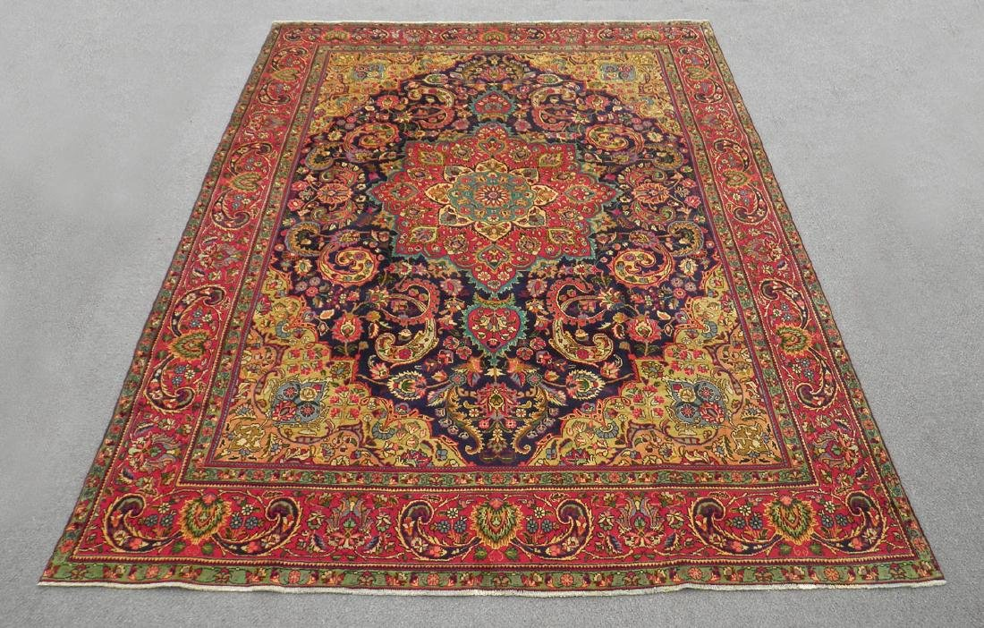Stunning Semi Antique Persian Tabriz 12.11x9.5