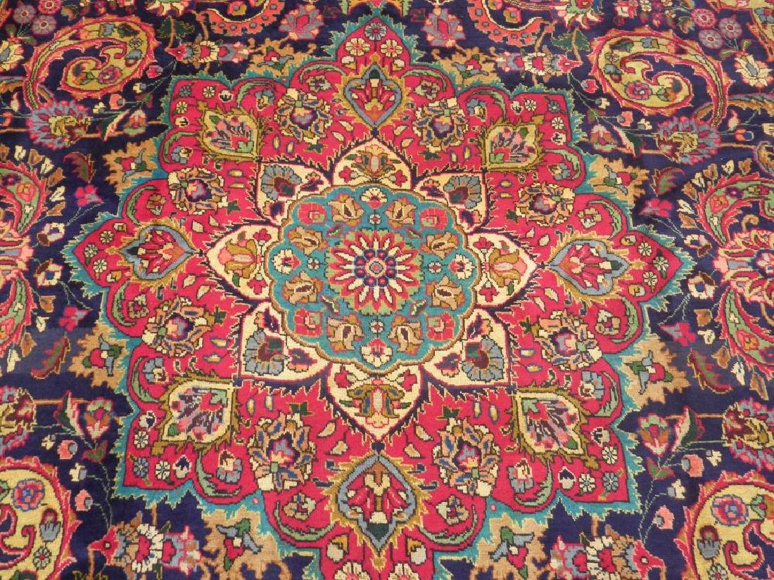 Stunning Semi Antique Persian Tabriz 12.11x9.5 - 5