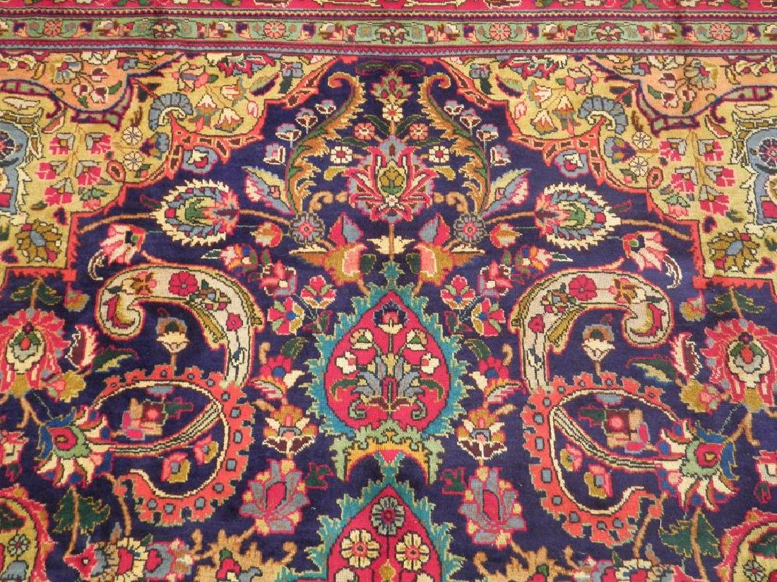 Stunning Semi Antique Persian Tabriz 12.11x9.5 - 6