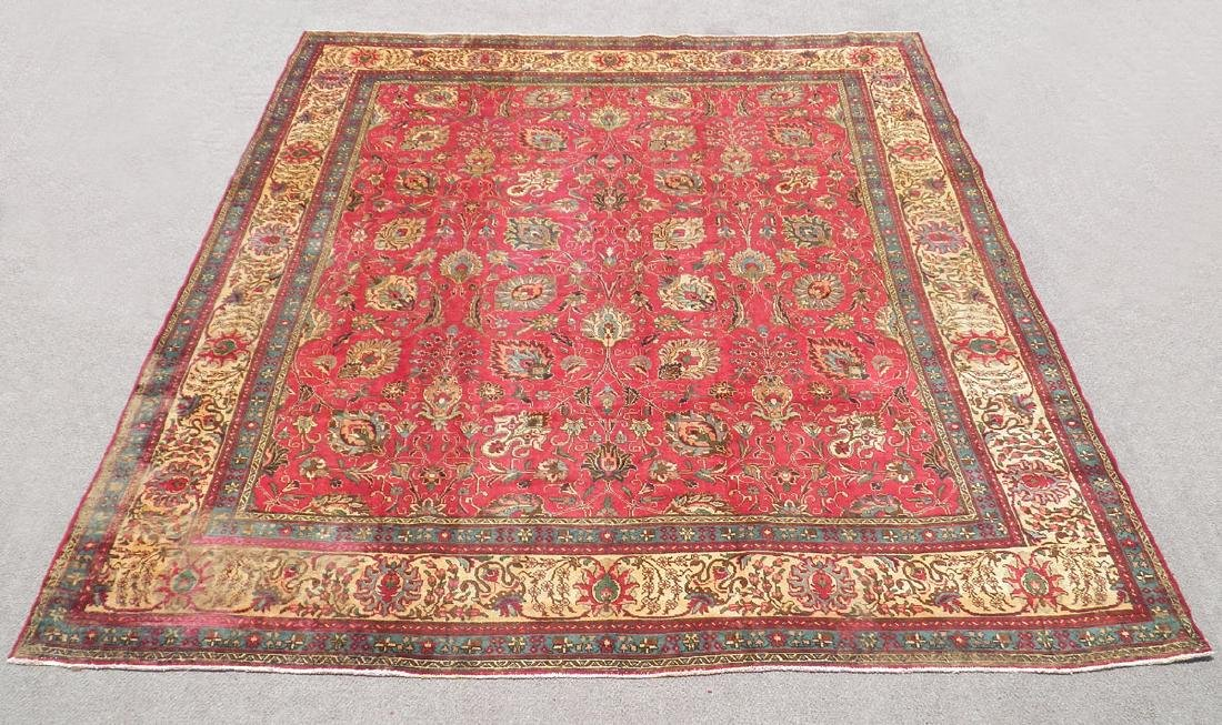 Highly Detailed Floral Semi Antique Persian Tabriz
