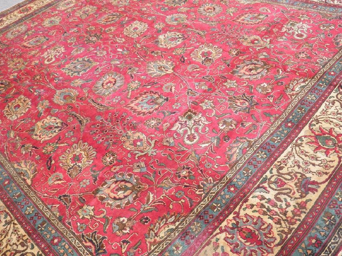 Highly Detailed Floral Semi Antique Persian Tabriz - 2