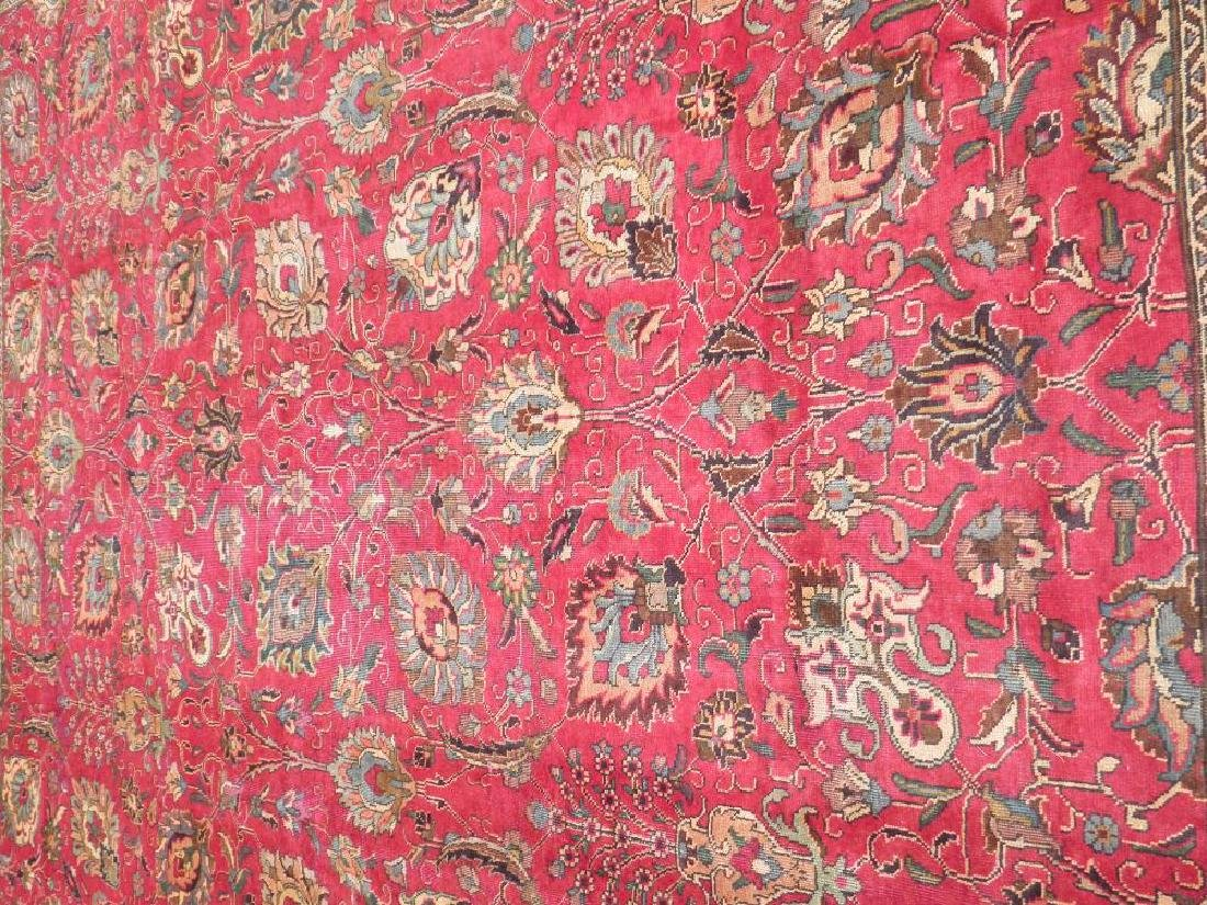 Highly Detailed Floral Semi Antique Persian Tabriz - 3