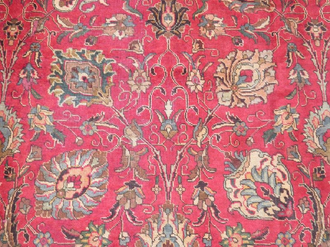 Highly Detailed Floral Semi Antique Persian Tabriz - 4