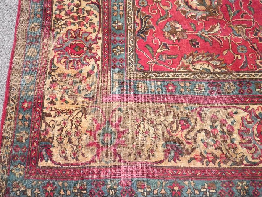 Highly Detailed Floral Semi Antique Persian Tabriz - 5
