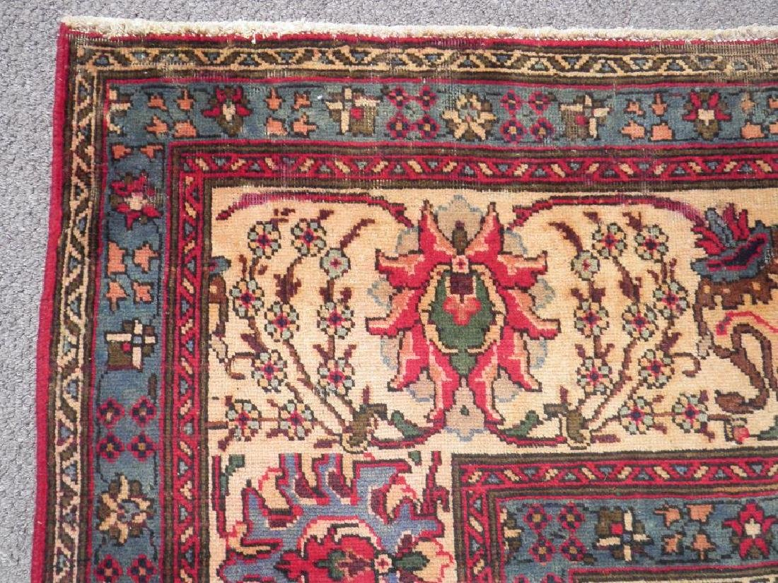 Highly Detailed Floral Semi Antique Persian Tabriz - 7