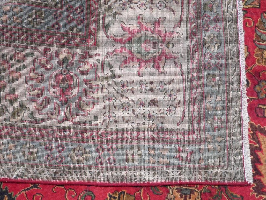Highly Detailed Floral Semi Antique Persian Tabriz - 8