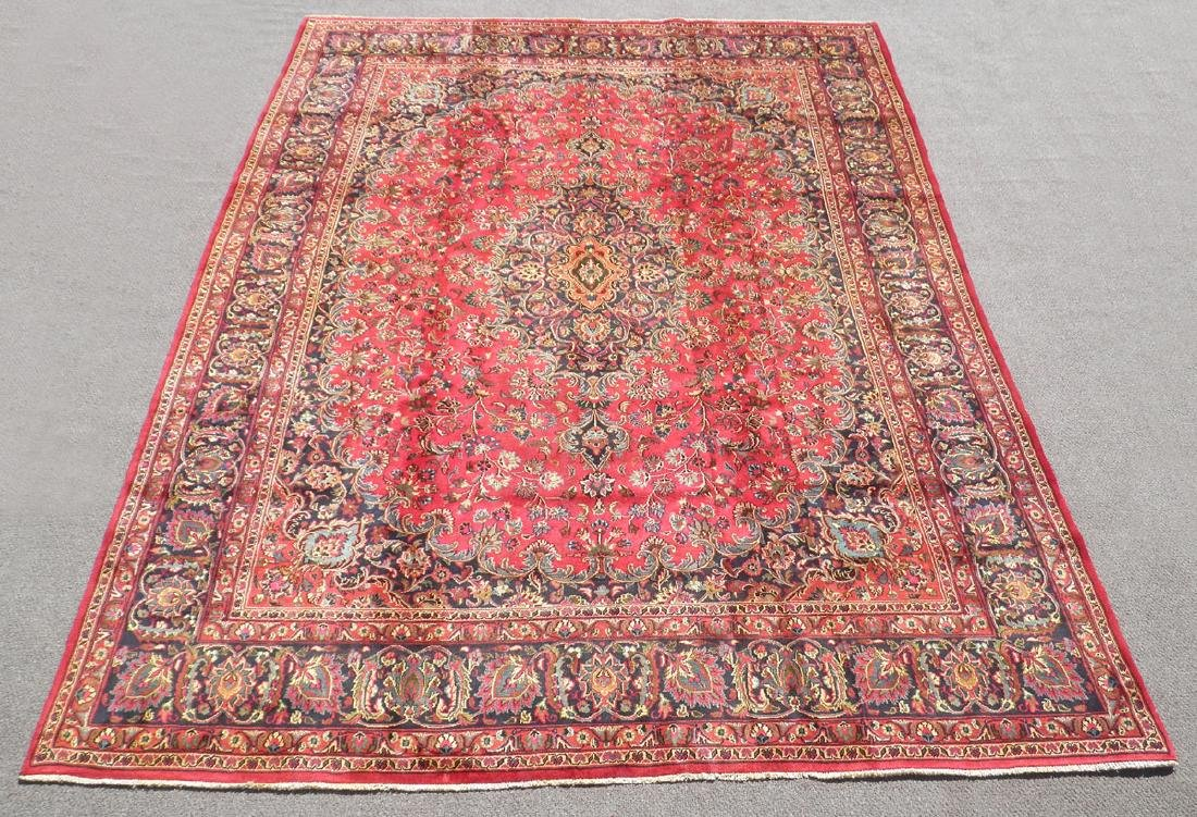 Stunning Semi Antique Persian Mashhad 9.8x12.5