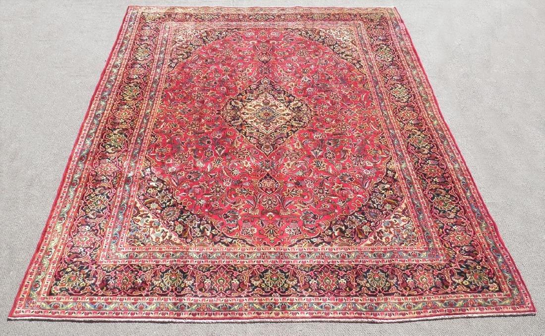 Detailed Floral Semi Antique Persian Mashhad 13x9.5