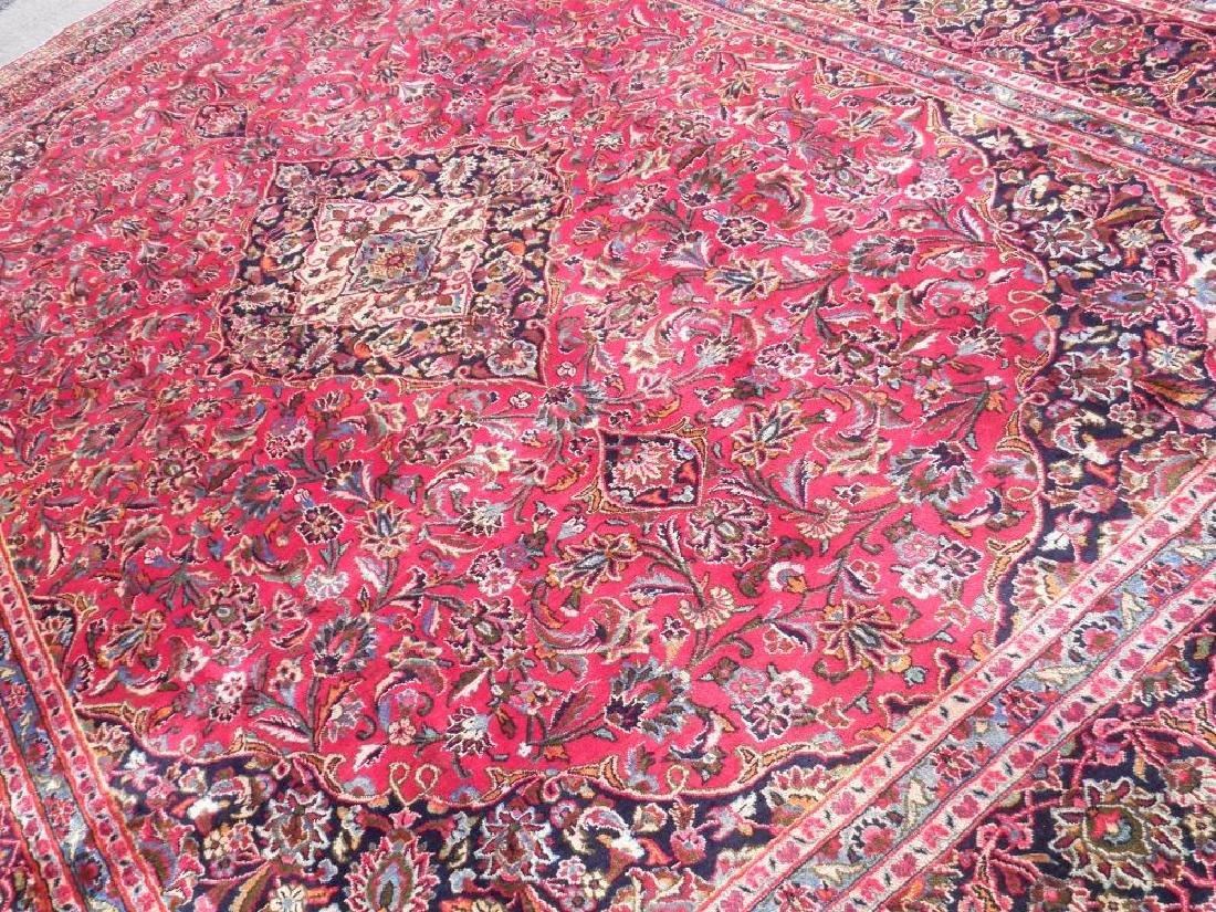 Detailed Floral Semi Antique Persian Mashhad 13x9.5 - 2