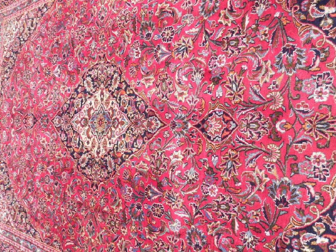 Detailed Floral Semi Antique Persian Mashhad 13x9.5 - 3