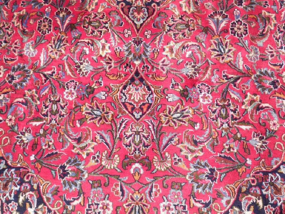 Detailed Floral Semi Antique Persian Mashhad 13x9.5 - 4