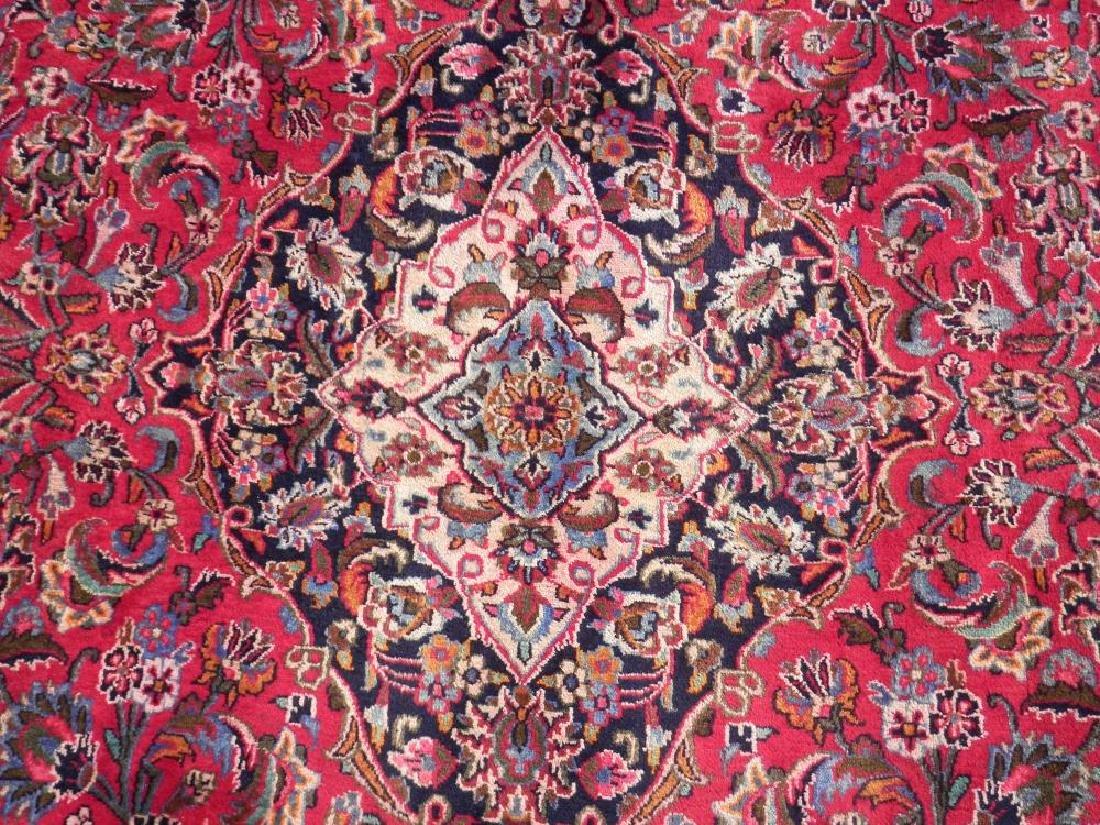Detailed Floral Semi Antique Persian Mashhad 13x9.5 - 5