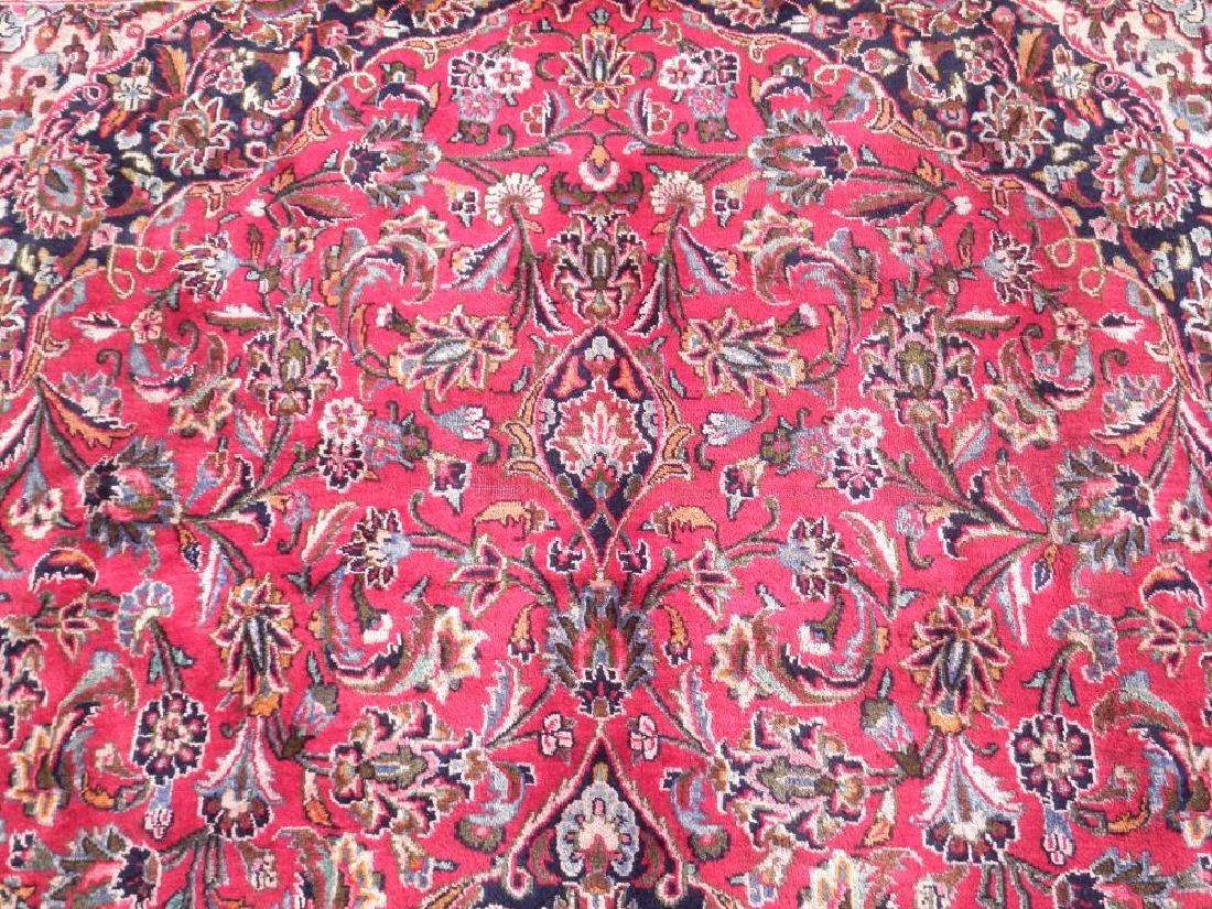 Detailed Floral Semi Antique Persian Mashhad 13x9.5 - 6