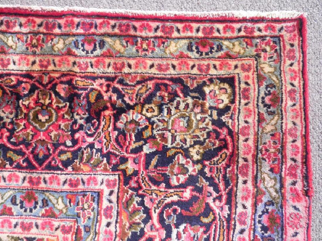 Detailed Floral Semi Antique Persian Mashhad 13x9.5 - 7