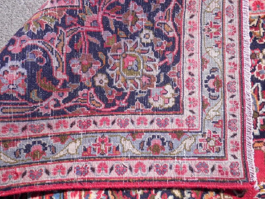 Detailed Floral Semi Antique Persian Mashhad 13x9.5 - 8