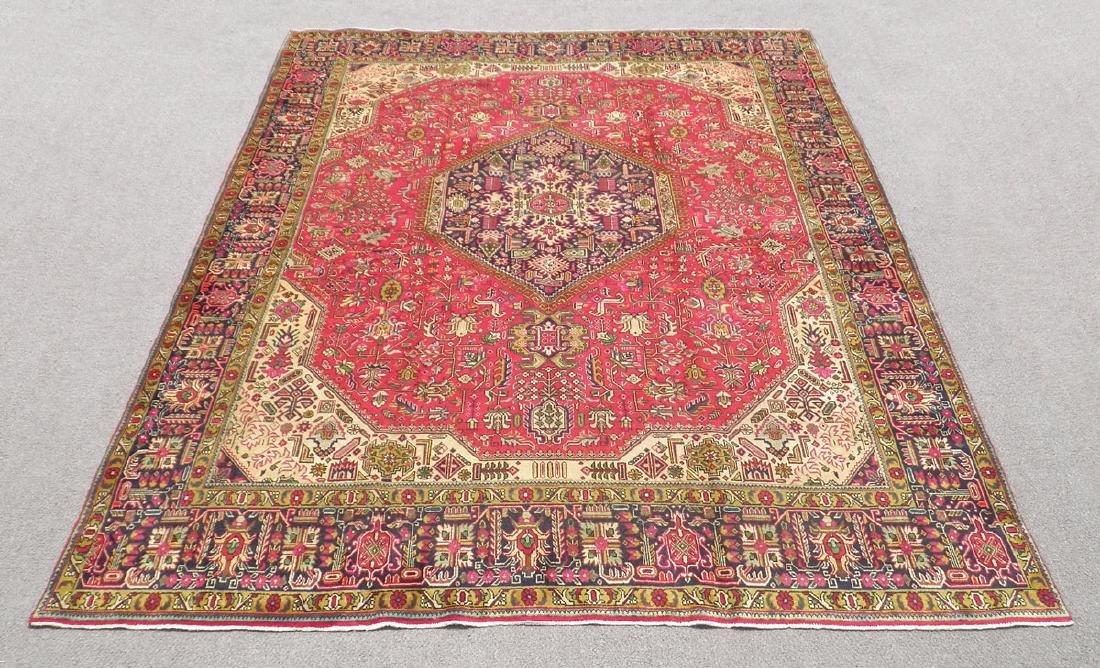 Quite Mesmerizing Semi Antique Persian Tabriz 12.4x9.9