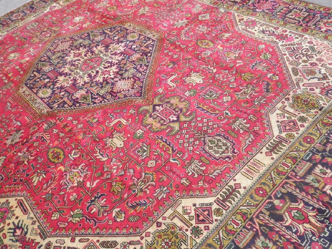 Quite Mesmerizing Semi Antique Persian Tabriz 12.4x9.9 - 2