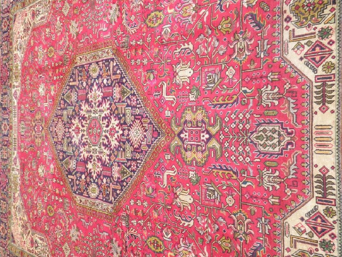 Quite Mesmerizing Semi Antique Persian Tabriz 12.4x9.9 - 3