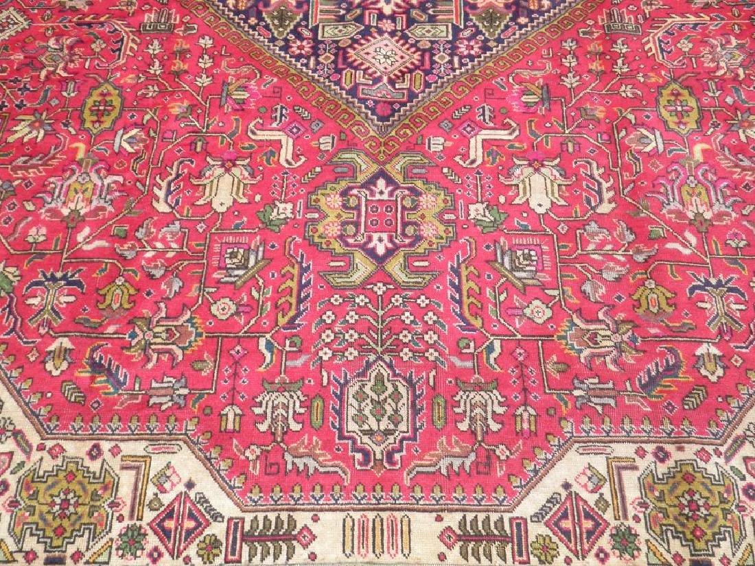 Quite Mesmerizing Semi Antique Persian Tabriz 12.4x9.9 - 4