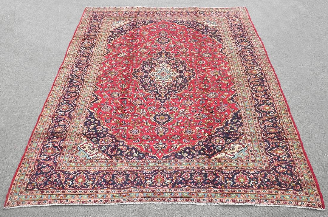 Beautiful Semi Antique Persian Kashan 13.0x9.7