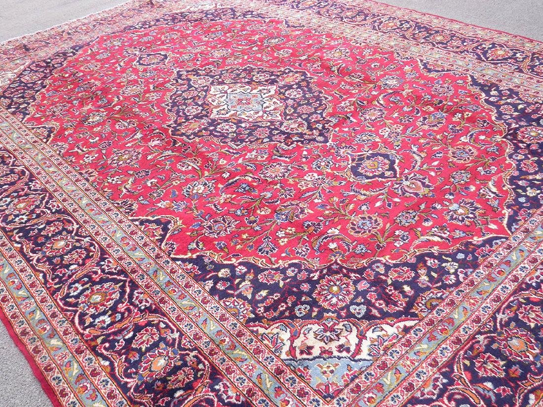 Beautiful Semi Antique Persian Kashan 13.0x9.7 - 2