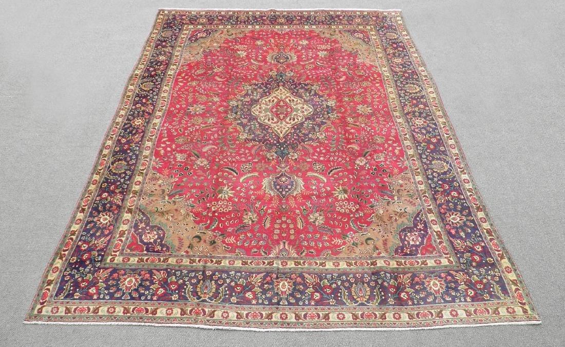 Authentic Semi Antique Persian Tabriz 13.5x9.6