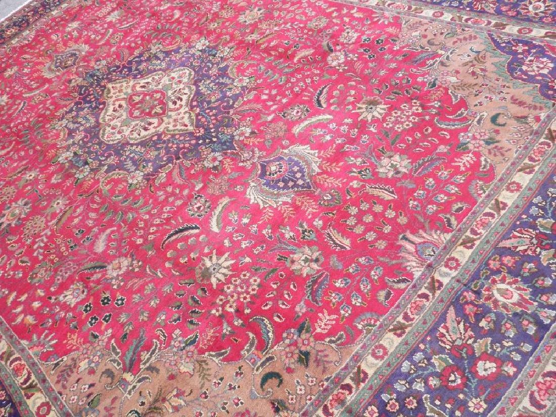 Authentic Semi Antique Persian Tabriz 13.5x9.6 - 2