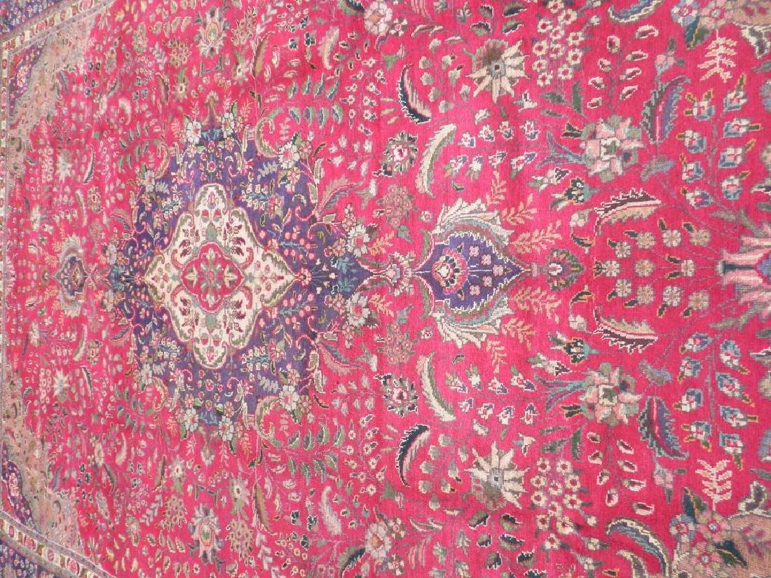 Authentic Semi Antique Persian Tabriz 13.5x9.6 - 3