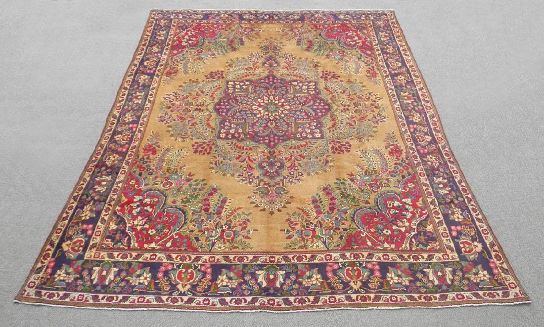 Spectacular Semi Antique Persian Tabriz 13.2x9.9