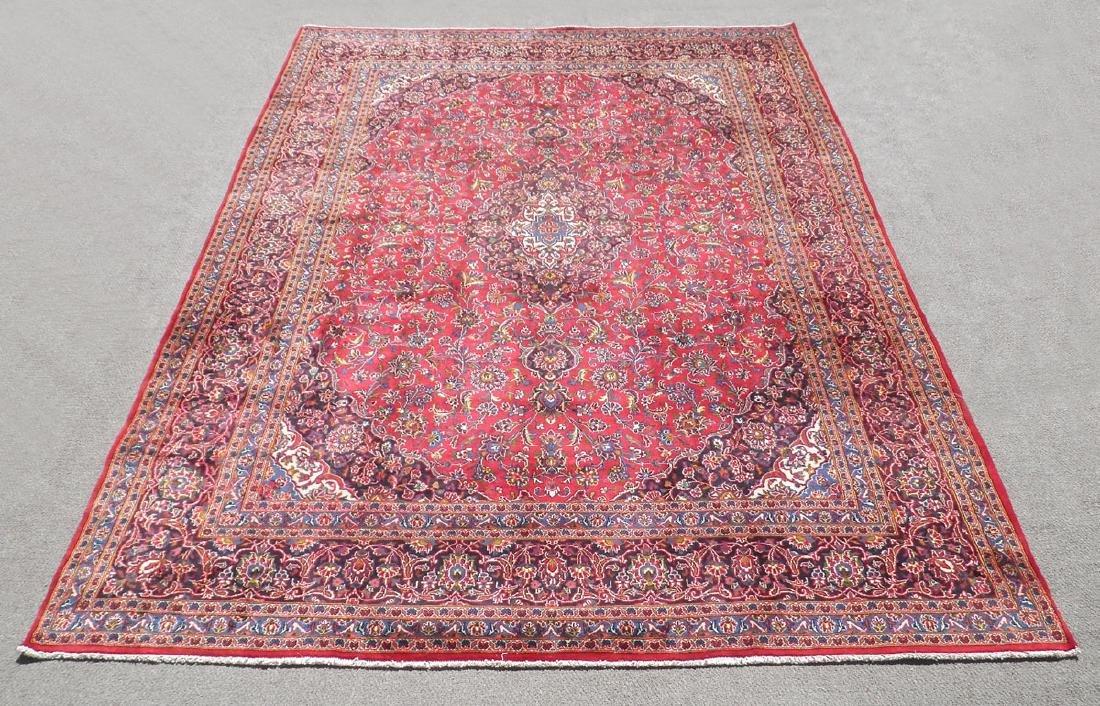 Hand Woven Semi Antique Persian Kashan 13.3x9.7