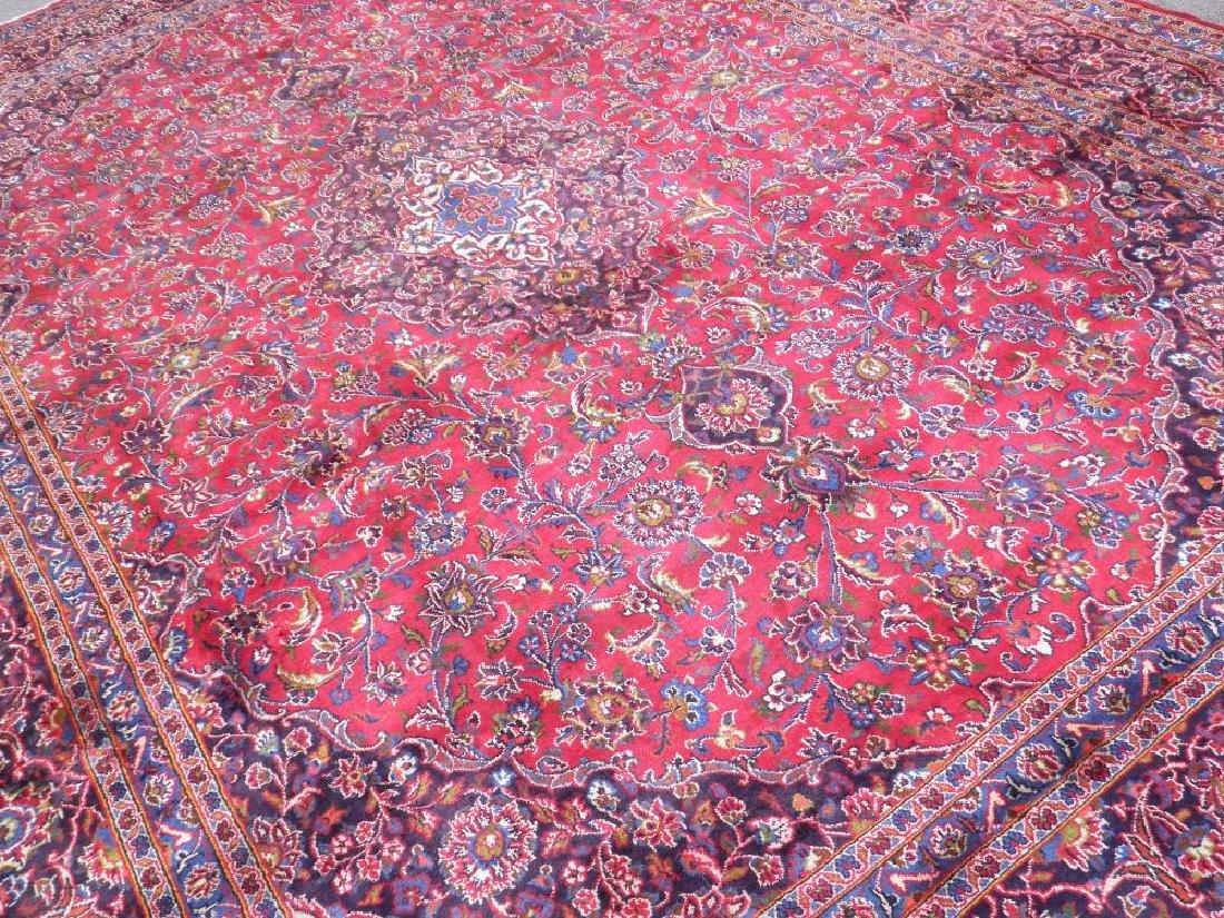 Hand Woven Semi Antique Persian Kashan 13.3x9.7 - 2