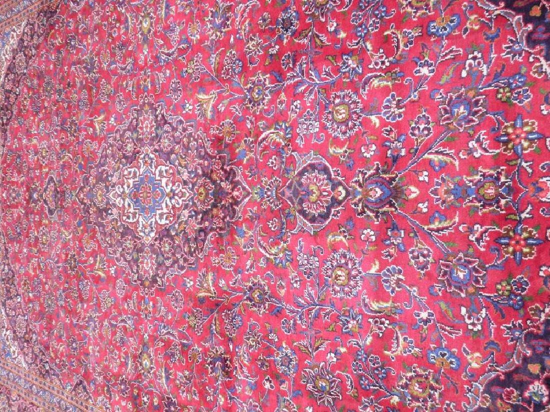Hand Woven Semi Antique Persian Kashan 13.3x9.7 - 3