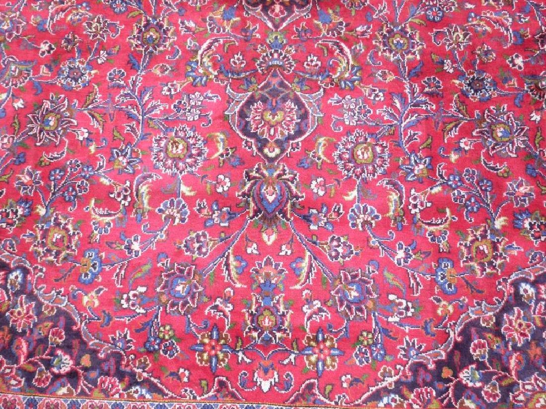 Hand Woven Semi Antique Persian Kashan 13.3x9.7 - 4