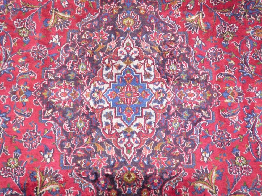 Hand Woven Semi Antique Persian Kashan 13.3x9.7 - 5