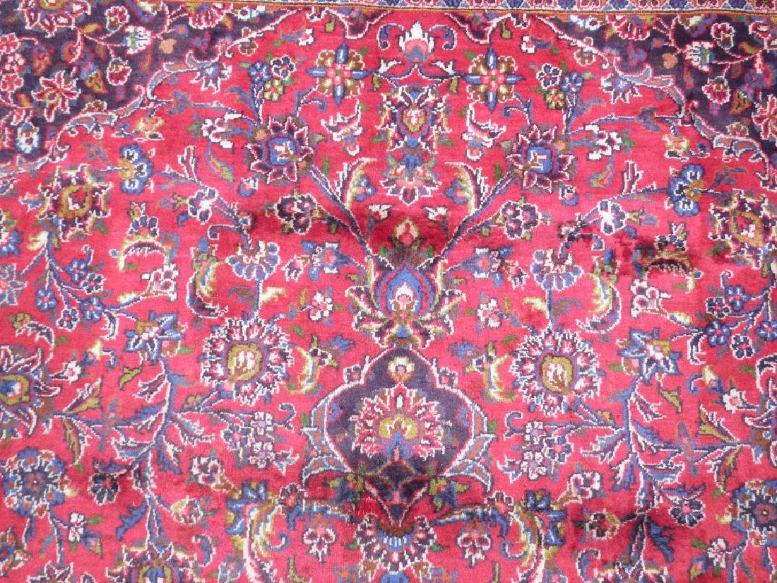 Hand Woven Semi Antique Persian Kashan 13.3x9.7 - 6