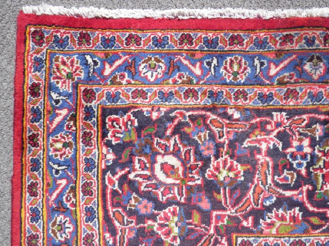 Hand Woven Semi Antique Persian Kashan 13.3x9.7 - 7