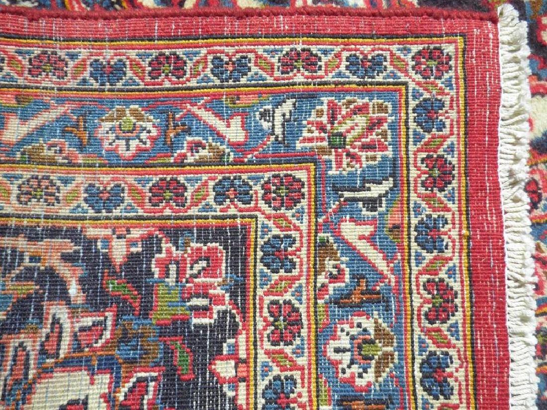 Hand Woven Semi Antique Persian Kashan 13.3x9.7 - 8