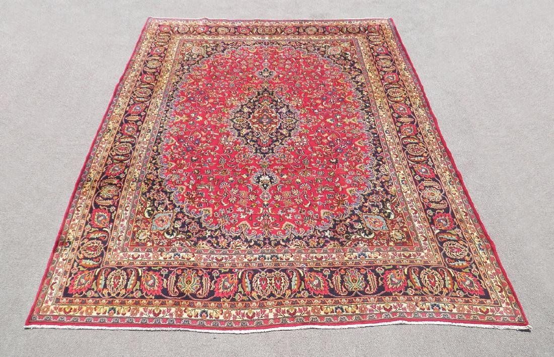 Simply Gorgeous Semi Antique Persian Mashhad 12.6x9.7