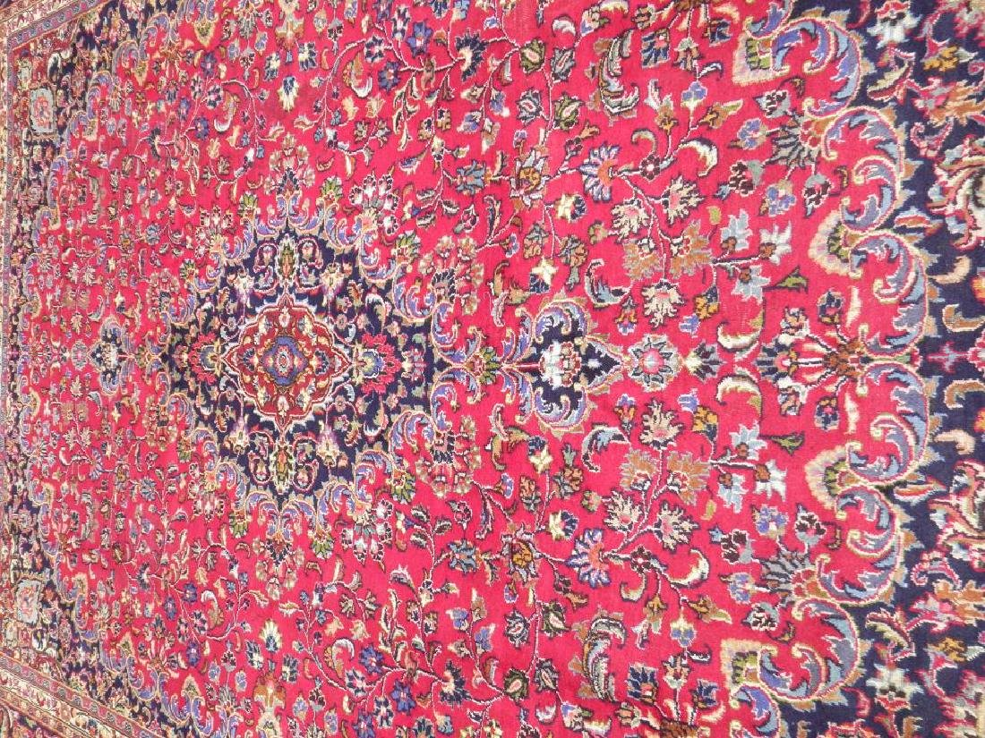 Simply Gorgeous Semi Antique Persian Mashhad 12.6x9.7 - 3