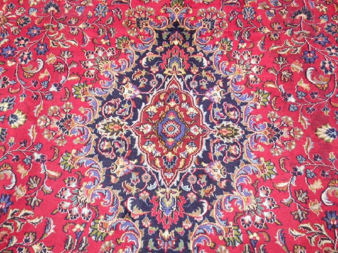 Simply Gorgeous Semi Antique Persian Mashhad 12.6x9.7 - 5