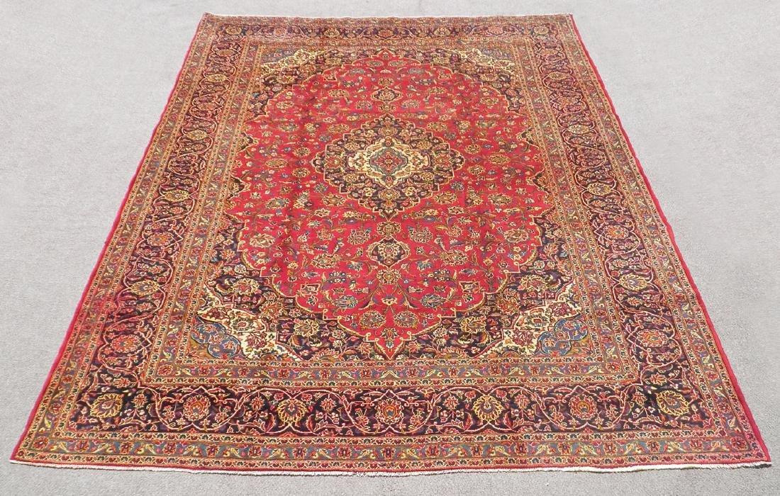 Simply Sensational Semi Antique Persian Kashan 13.3x9.8