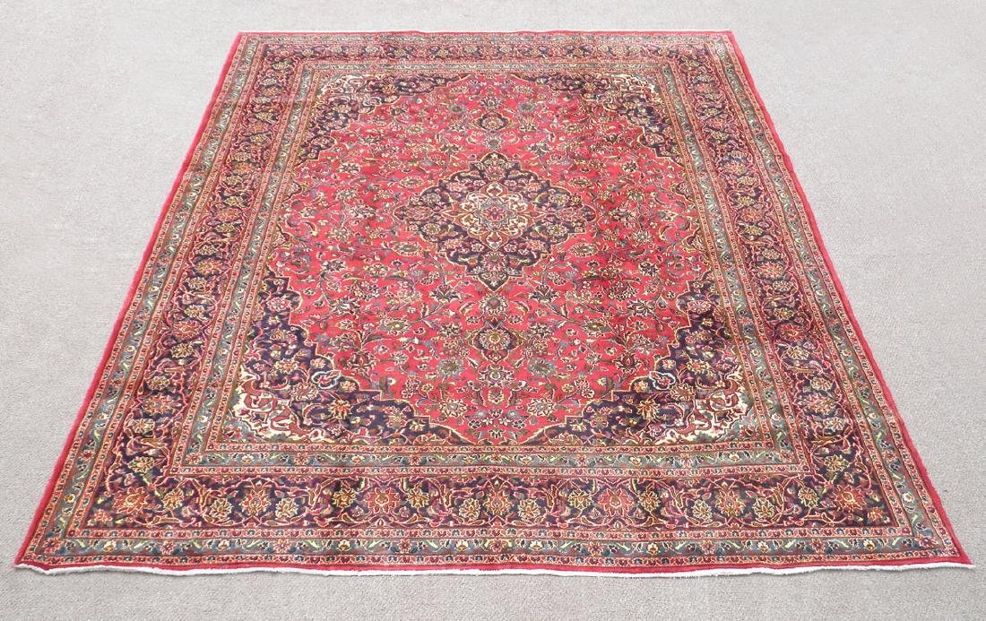 Detailed Floral Semi Antique Persian Mashhad 12.7x9.7