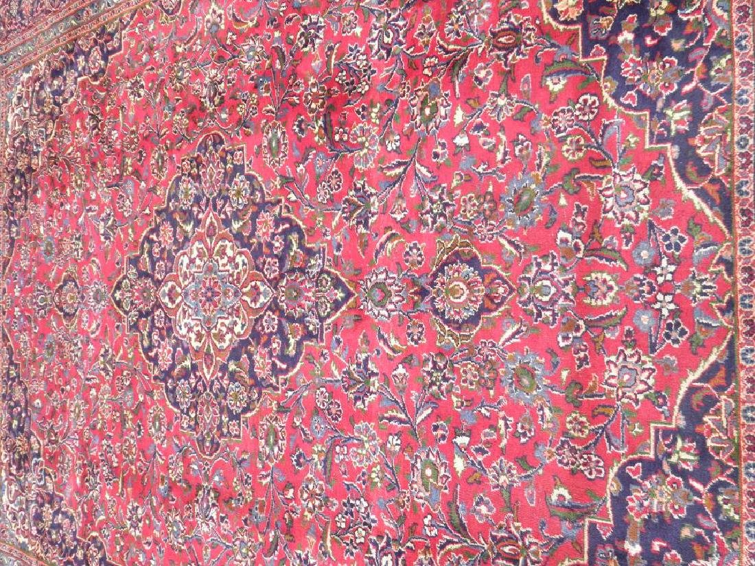 Detailed Floral Semi Antique Persian Mashhad 12.7x9.7 - 3