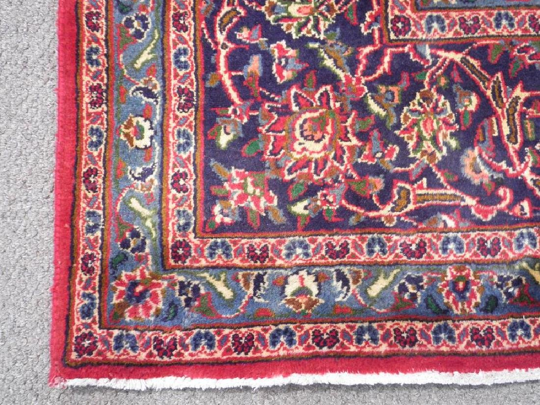 Detailed Floral Semi Antique Persian Mashhad 12.7x9.7 - 5
