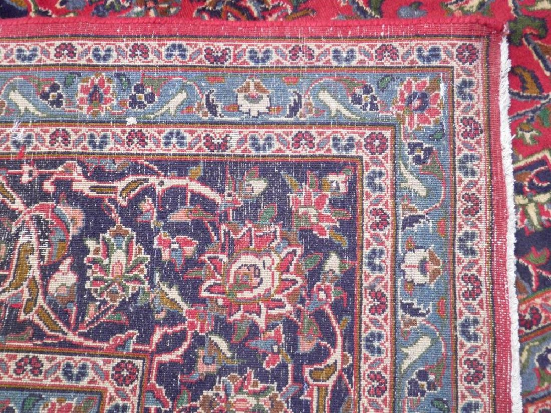 Detailed Floral Semi Antique Persian Mashhad 12.7x9.7 - 6