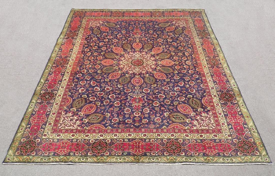 Charming/Colorful Semi Antique Persian Tabriz 12.2x9.7