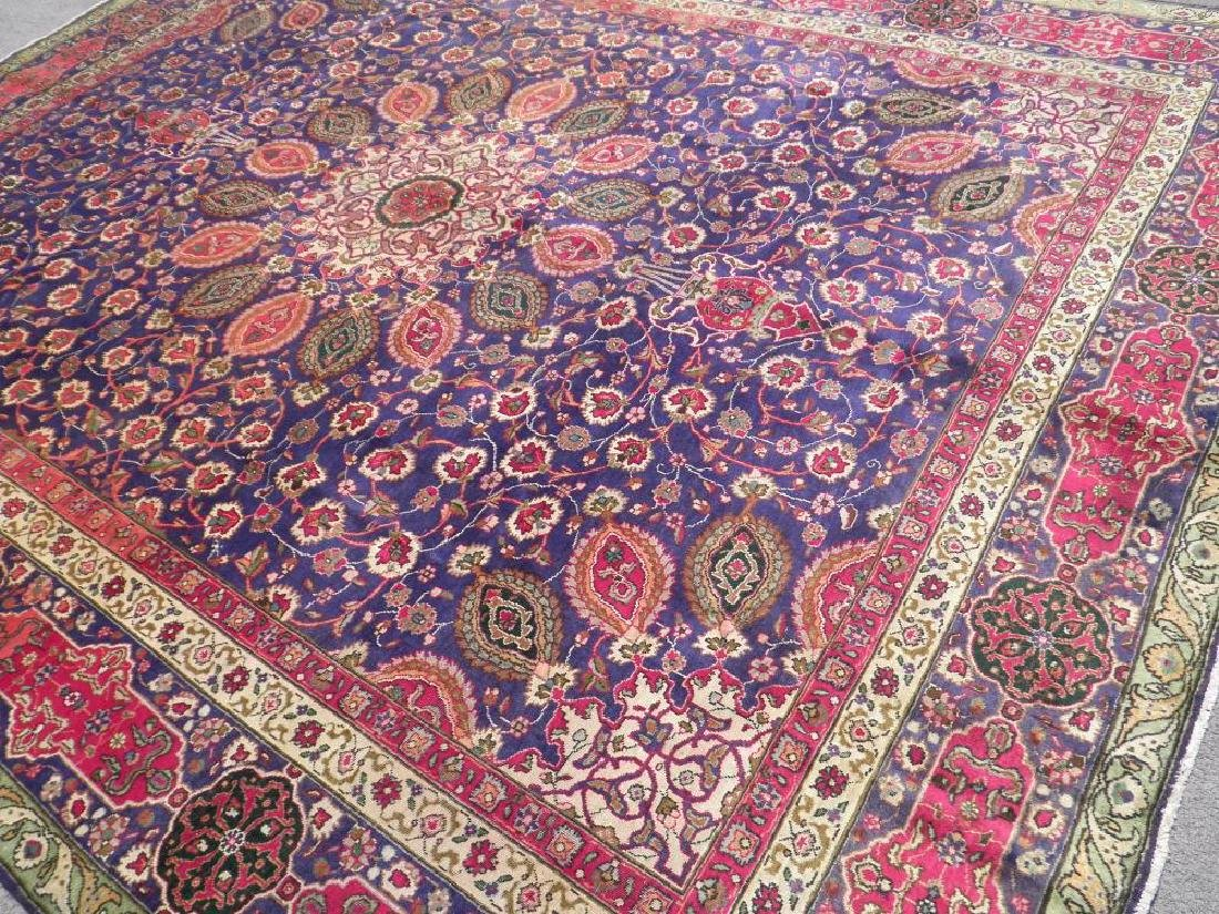 Charming/Colorful Semi Antique Persian Tabriz 12.2x9.7 - 2