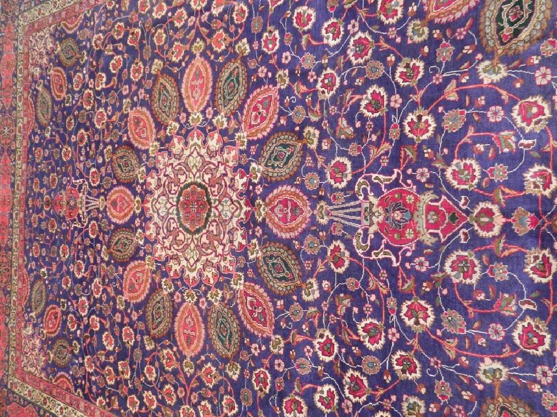 Charming/Colorful Semi Antique Persian Tabriz 12.2x9.7 - 3